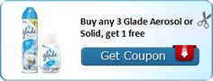New Coupon!  Buy any 3 Glade Aerosol or Solid, get 1 free - http://www.stacyssavings.com/new-coupon-buy-any-3-glade-aerosol-or-solid-get-1-free/