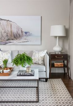 Box Frame Coffee Table with Marble from west elm / room by Vanessa Francis Design
