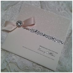 Wedding stationery inspiration - ideas for your wedding invitations. All That Glitters www.crystalcoutureweddingstationery.co.uk