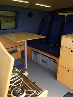 VW T5 SWB amdro angel fitted conversion from panel van to Camper, Amdro Alternative Camper Conversions