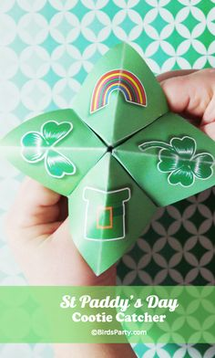 FREE Party Printables from @birdsparty: St Paddy's Day Cootie Catchers Game