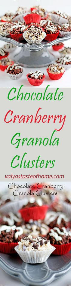 Chocolate Cranberry Granola Clusters Best Christmas Recipes, Holiday Recipes, Winter Recipes, Christmas Foods, Christmas Sweets, Christmas Ideas, Easy Family Meals, Easy Meals, Frugal Meals