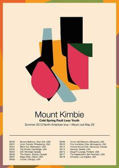 Mount Kimbie Poster Summer 2013