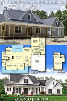 House Plans With Stories Architectural Designs Modern Farmhouse Plan client-built in Missour Modern Farmhouse Plans, Farmhouse Style, Missouri, Pole Barn House Plans, Best House Plans, Dream House Plans, House Layouts, House Goals, My Dream Home