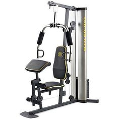 XR 55 Home Exercise Gold's Gym, weight stack, padded seat, preacher pad, chart The new Gold's Gym XR 55 Home Gym has all the great features you love about the Strength Training Equipment, Strength Training Workouts, Weight Training, Muscle Building Workouts, Gym Workouts, At Home Workouts, Workout Exercises, Workout Gear, Tesla Motors