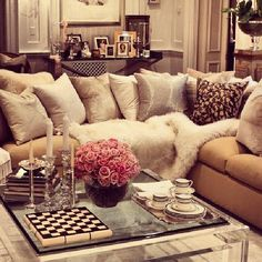 romantic and warm living room