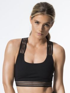 4693ac77ff Sheer Illusion Let Medium Support Sport Bra in Jet Black love this sports  bra! it s