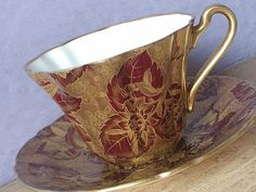 Rare Vintage Royal Stafford Tapestry teacup and by ShoponSherman