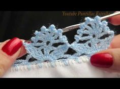 Crochet Edging And Borders Most popular Crochet Edging Patterns, Crochet Lace Edging, Crochet Hook Set, Crochet Borders, Love Crochet, Beautiful Crochet, Diy Crochet, Crochet Doilies, Crochet Flowers