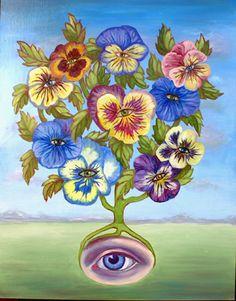 """""""SeeMe"""" oil on board by Joan Wheeler"""