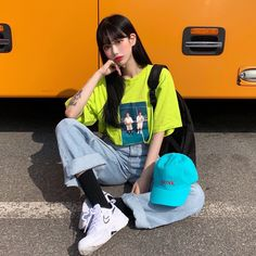 "@c1earing on Instagram: ""🍊🧡 #나이키#에어하이츠#ABC마트#ABCMART#인스턴트펑크#instantfunk#dailylook#ootd"" Edgy Outfits, Korean Outfits, Couple Outfits, Fashion Outfits, Korean Street Fashion, Asian Fashion, Girl Fashion, Harajuku Fashion, Look At You"
