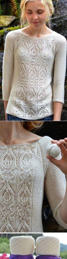Джемпер шетландским вязанием