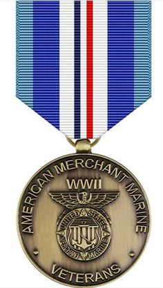 USA Military Medals is now happy of offer the WWII Merchant Marine Commemorative Medal! Show your Service Pride with this military award. Army Decor, Military Decorations, Military Pins, Military Army, Military Medals And Ribbons, Medal Ribbon, Merchant Marine, Military Insignia, World War Ii