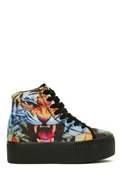 Jeffrey Campbell Hiya Platform Sneaker - Tiger Print