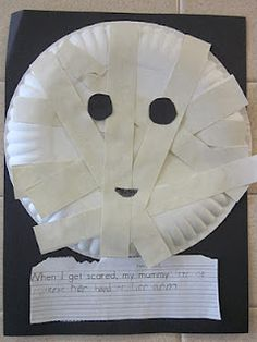 another version of kids mummy craft - Halloween Mummy Crafts
