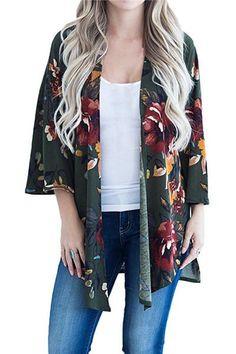5e3ccb2444 Cardigans. Fall SweatersSweaters For WomenLong SweatersFloral CardiganChiffon  KimonoKimono TopBeach TopsCardigan ...