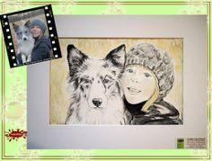 Hundeportrait nach Fotovorlage/ dog's portrait painted from photograph; with water colour on Hahnemühle Paper © Wandklex Ingrid Heuser künstlerische Wandbemalung, Ratzeburg/Germany - ein Designerstück von wandklex bei DaWanda, - in meinem kleinen Klexshop http://de.dawanda.com/shop/wandklex können Sie Ihr persönliches Bild nach Ihrer eigenen Fotovorlage bestellen.