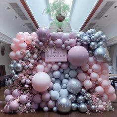 Isn't she LOVELY?💗💜 Our balloon babe of a media wall was born to do it at the UK launch night of the new fragrance 💖🌸💁🏻♀️📸 Girl Baby Shower Decorations, Balloon Decorations Party, Birthday Party Decorations, Birthday Parties, Balloon Backdrop, Balloon Wall, Balloon Garland, Air Balloon, Baby Shower Balloons