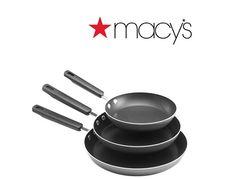 Set of 3 Farberware Nonstick Dishwasher-Safe Nonstick Fry Pans  More $9.99 AR (macys.com)