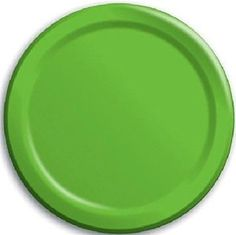 "Amazon.com: Custom & Unique {7"" Inch} 8 Count Multi-Pack Set of Medium Size Round Circle Disposable Paper Plates w/ Single Colored Basic Simple Modern Spring Lawn Event Party ""Lime Green Colored"": Kitchen & Dining"