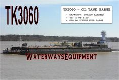 This BBL Oil Tank Barge is available for sale. Furthermore, this x x tank barge features an OPA 90 Double Hull. Oil, Butter