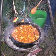Outdoor Cooking, Paella, Barbecue, Vegetables, Ethnic Recipes, Food, Skillet, Cast Iron, Winter
