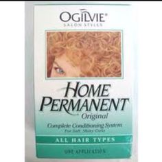 Ogilvie home perms. I did this to my hair, on purpose.
