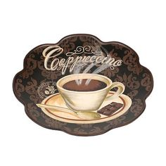 This Cappuccino Decorative Plate will add an authentic touch to your kitchen. Sit down with a cup of coffee and you might think you\u0027re in a fancy Italian ...  sc 1 st  Pinterest & Cup of Coffee Decorative Plate   Coffee Cups and Plate stands