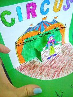 Ispirazione circense: biglietto pop-up   Accidentaccio arrivano i bambini