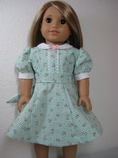 18 Inch Doll Clothes American Girl 1940s Green von nayasdesigns, $26,00