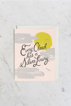 Rifle Paper Co - Single Card - Silver Lining