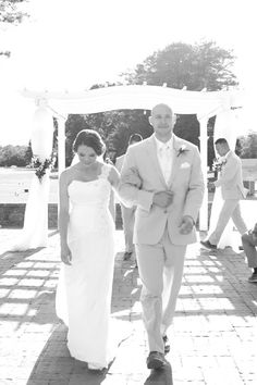 Simple black and white photo of couple after ceremony| South Jersey Wedding Venue| CLEIGH PHOTOGRAPHY
