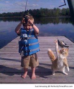voçe pesca e eu  guardo...