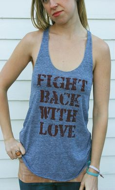fight back with love tank top by purushapeople on Etsy
