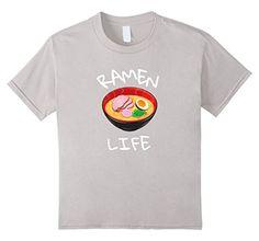 Kids Ramen Noodle Ramen Life - Awesome Parody Tee 8 Silve...