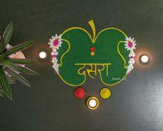 Easy Rangoli Designs Diwali, Rangoli Designs Latest, Rangoli Designs Flower, Latest Rangoli, Free Hand Rangoli Design, Rangoli Border Designs, Colorful Rangoli Designs, Rangoli Ideas, Rangoli Designs Images