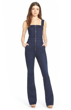 ef708d818b2c 7 For All Mankind® Denim Jumpsuit (Dark Rich Vibrant Blue)