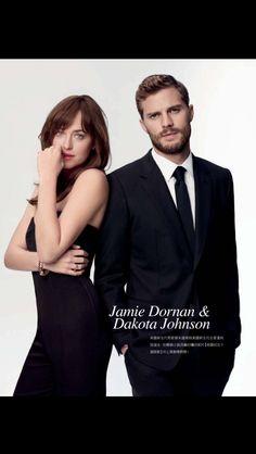 Jamie Dornan / Dakota Johnson http://www.pinterest.com/lilyslibrary/