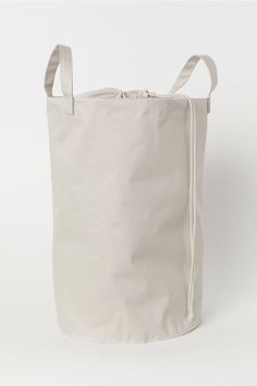Cotton Twill Laundry Bag - Light taupe - Home All Gaucho, Canvas Laundry Bag, Laundry Bags, Laundry Storage, How To Make Canvas, Taupe, Basket Lighting, Skin Moles, Plastic Coating