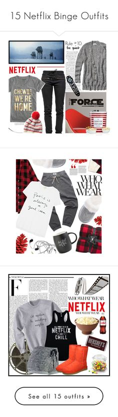 """""""15 Netflix Binge Outfits"""" by polyvore-editorial ❤ liked on Polyvore featuring waystowear, Netflixbinge, Ragdoll, J.Crew, RoomMates Decor, Abercrombie & Fitch, The Hampton Popcorn Company, WhatToWear, polyvoreeditorial and Tourne"""