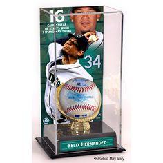Mounted Memories Felix Hernandez Seattle #Mariners Game-Used Streak Baseball with Sublimated Display Case $199.99