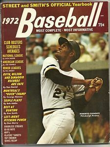 street and smith baseball magazine | 1972 Baseball Street and Smith's Yearbook Roberto Clemente Pittsburgh ...