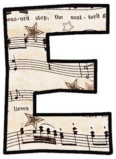 Clip Art designs all based on a vintage music score or sheet music