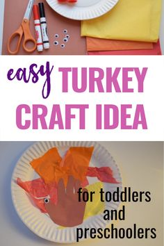 This Thanksgiving turkey craft is really easy to make. A fun activity to do with your toddler or preschooler this year. Thanksgiving Crafts For Toddlers, Thanksgiving Turkey, Crafts For Kids, Tissue Paper Trees, Turkey Craft, Fun Activities To Do, Toddler Crafts, Halloween Crafts, Easy Crafts
