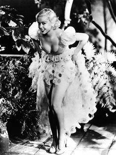 Toby Wing and her party dress  Circa: Early 1930s