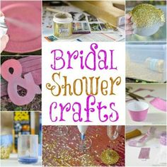 Pink and gold bridal shower decorations- 8 craft ideas to help save money on your big day. Bridal Shower Crafts, Wedding Shower Decorations, My Bridal Shower, Gold Bridal Showers, Bridal Shower Favors, Ideas Para Organizar, Bachlorette Party, To Infinity And Beyond, Wedding Videos