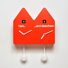 Double Q Wall Clock Red, $515, now featured on Fab.