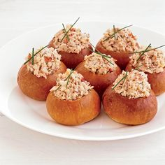 These rolls, which are a delightful play on the traditional lobster roll, are quite substantial, so one per person is plenty, especially if you're ser...