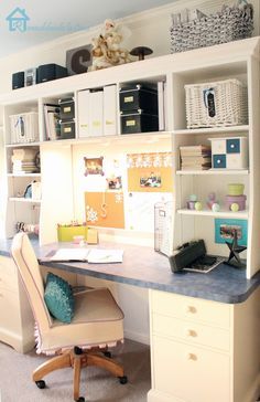Post is about Chalkboard Labels but just wanted pic of this desk - would love to do this in den.