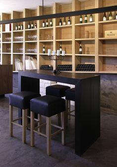 degustation table, wine rack